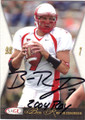 BEN ROETHLISBERGER MIAMI UNIVERSITY AUTOGRAPHED ROOKIE YEAR FOOTBALL CARD #42614A