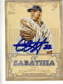 CC SABATHIA NEW YORK YANKEES AUTOGRAPHED BASEBALL CARD #42814B
