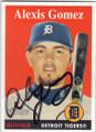 ALEXIS GOMEZ DETROIT TIGERS AUTOGRAPHED BASEBALL CARD #50114B