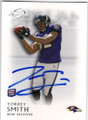 TORREY SMITH BALTIMORE RAVENS AUTOGRAPHED ROOKIE FOOTBALL CARD #50114C