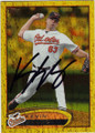 KEVIN GREGG BALTIMORE ORIOLES AUTOGRAPHED BASEBALL CARD #50214H