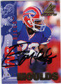 ERIC MOULDS BUFFALO BILLS AUTOGRAPHED ROOKIE YEAR FOOTBALL CARD #50314D