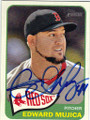 EDWARD MUJICA BOSTON RED SOX AUTOGRAPHED BASEBALL CARD #50314J