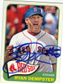 RYAN DEMPSTER BOSTON RED SOX AUTOGRAPHED BASEBALL CARD #50314N