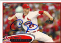 CHRIS CARPENTER ST LOUIS CARDINALS AUTOGRAPHED BASEBALL CARD #50414C