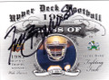 TIM BROWN NOTRE DAME FIGHTING IRISH AUTOGRAPHED FOOTBALL CARD #50414G