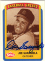 JOE GARAGIOLA ST LOUIS CARDINALS AUTOGRAPHED BASEBALL CARD #50514C