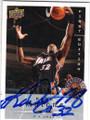 KARL MALONE UTAH JAZZ AUTOGRAPHED BASKETBALL CARD #50514N