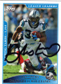 DeANGELO WILLIAMS CAROLINA PANTHERS AUTOGRAPHED FOOTBALL CARD #50614H