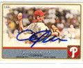CLIFF LEE PHILADELPHIA PHILLIES AUTOGRAPHED BASEBALL CARD #50714G