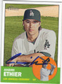 ANDRE ETHIER LOS ANGELES DODGERS AUTOGRAPHED BASEBALL CARD #50914D