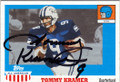 TOMMY KRAMER RICE UNIVERSITY AUTOGRAPHED FOOTBALL CARD #51014B