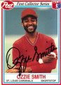 OZZIE SMITH ST LOUIS CARDINALS AUTOGRAPHED BASEBALL CARD #51014D