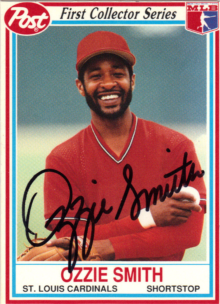 Ozzie Smith St Louis Cardinals Autographed Baseball Card 51014d