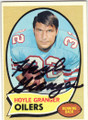 HOYLE GRANGER HOUSTON OILERS AUTOGRAPHED VINTAGE FOOTBALL CARD #51014H