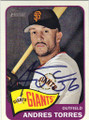 ANDRES TORRES SAN FRANCISCO GIANTS AUTOGRAPHED BASEBALL CARD #51214i