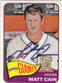 MATT CAIN SAN FRANCISCO GIANTS AUTOGRAPHED BASEBALL CARD #51214M