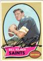 BILL KILMER NEW ORLEANS SAINTS AUTOGRAPHED VINTAGE FOOTBALL CARD #51414i