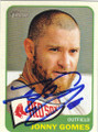JONNY GOMES BOSTON RED SOX AUTOGRAPHED BASEBALL CARD #52014E
