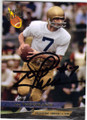 JOE THEISMANN NOTRE DAME FIGHTING IRISH AUTOGRAPHED FOOTBALL CARD #52014O
