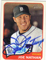 JOE NATHAN DETROIT TIGERS AUTOGRAPHED BASEBALL CARD #60214C