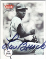 LOU BROCK ST LOUIS CARDINALS AUTOGRAPHED BASEBALL CARD #60214G