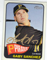 GABY SANCHEZ PITTSBURGH PIRATES AUTOGRAPHED BASEBALL CARD #60214H
