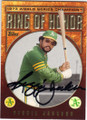 REGGIE JACKSON OAKLAND ATHLETICS AUTOGRAPHED BASEBALL CARD #60214i