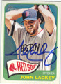 JOHN LACKEY BOSTON RED SOX AUTOGRAPHED BASEBALL CARD #60214K