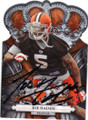 JOE HADEN CLEVELAND BROWNS AUTOGRAPHED ROOKIE FOOTBALL CARD #60214N