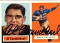 AL CARMICHAEL GREEN BAY PACKERS AUTOGRAPHED FOOTBALL CARD #60514D