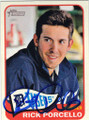 RICK PORCELLO DETROIT TIGERS AUTOGRAPHED BASEBALL CARD #60514G