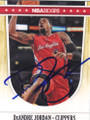 DeANDRE JORDAN LOS ANGELES CLIPPERS AUTOGRAPHED BASKETBALL CARD #60614A