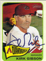KIRK GIBSON ARIZONA DIAMONDBACKS AUTOGRAPHED BASEBALL CARD #60714C