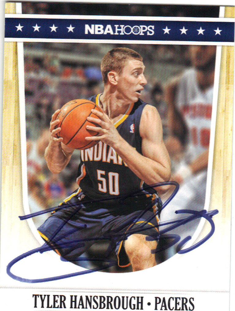 2de60c52457 TYLER HANSBROUGH INDIANA PACERS AUTOGRAPHED BASKETBALL CARD #60714F ...