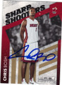 CHRIS BOSH MIAMI HEAT AUTOGRAPHED & NUMBERED BASKETBALL CARD #61114G