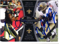 MARQUES COLSTON & PIERRE THOMAS NEW ORLEANS SAINTS DOUBLE AUTOGRAPHED FOOTBALL CARD #61114L