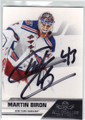 MARTIN BIRON NEW YORK RANGERS AUTOGRAPHED HOCKEY CARD #61314M