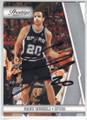 MANU GINOBILI SAN ANTONIO SPURS AUTOGRAPHED BASKETBALL CARD #61614D