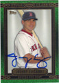 JACOBY ELLSBURY BOSTON RED SOX AUTOGRAPHED BASEBALL CARD #62114D