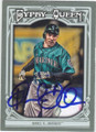 RAUL IBANEZ SEATTLE MARINERS AUTOGRAPHED BASEBALL CARD #62114J