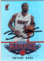 DWYANE WADE MIAMI HEAT AUTOGRAPHED BASKETBALL CARD #62714E