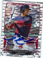 NICK SWISHER CLEVELAND INDIANS AUTOGRAPHED BASEBALL CARD #62814D