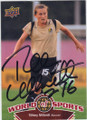 TIFFENY MILBRETT UNIVERSITY OF PORTLAND AUTOGRAPHED SOCCER CARD #63014B