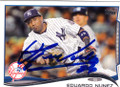 EDUARDO NUNEZ NEW YORK YANKEES AUTOGRAPHED BASEBALL CARD #63014C