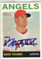 MARK TRUMBO LOS ANGELES ANGELS OF ANAHEIM AUTOGRAPHED BASEBALL CARD #70714E
