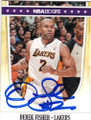 DEREK FISHER LOS ANGELES LAKERS AUTOGRAPHED BASKETBALL CARD #70714F