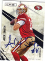 ALEX SMITH SAN FRANCISCO 49ers AUTOGRAPHED FOOTBALL CARD #71614B