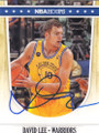 DAVID LEE GOLDEN STATE WARRIORS AUTOGRAPHED BASKETBALL CARD #71714A