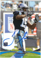 JOE ADAMS CAROLINA PANTHERS AUTOGRAPHED ROOKIE FOOTBALL CARD #71814J
